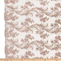 Beaded Damask Bridal Mauve
