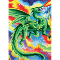 "Mini Color Pencil By Number Kit 5""X7""-Dragon"