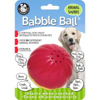Large Animal Sounds Babble Ball-Red & Yellow