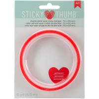 "Sticky Thumb Double-Sided Super Sticky Red Tape-.5""X5yd"