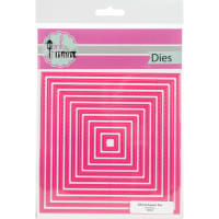 """Pink & Main Dies-Stitched Squares 4"""" To 5.5"""""""