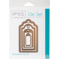 "Gina K Designs 4 Nested Decorative Tags Dies-.625"" To 4"""