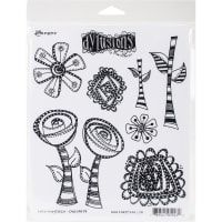 "Dyan Reaveley's Dylusions Cling Stamp Collections 8.5""X7""-Everything's Rosy"