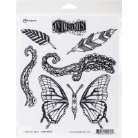 "Dyan Reaveley's Dylusions Cling Stamp Collections 8.5""X7""-Flight Of Fancy"