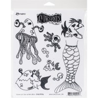 "Dyan Reaveley's Dylusions Cling Stamp Collections 8.5""X7""-Plenty More Fish In The Sea"