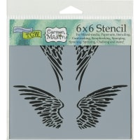 """Crafter's Workshop Template 6""""X6""""-Angel Wings"""