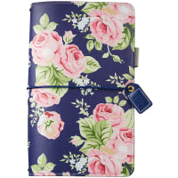"Color Crush Traveler's Notebook Planner 5.75""X8.75""-Navy Floral"