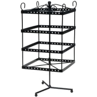"Metal Jewelry Display Spinner 6""X6""X13""-Black"