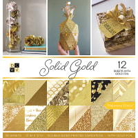 "DCWV Double-Sided Cardstock Stack 12""X12"" 36/Pkg-Solid Gold, 18 Designs/2 Each"