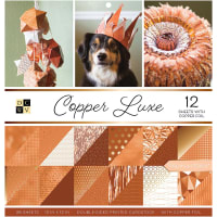 "DCWV Double-Sided Cardstock Stack 12""X12"" 36/Pkg-Copper Luxe, 18 Des/2 Each, 12 W/Foil"