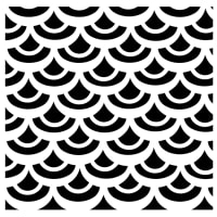 """Crafter's Workshop Template 6""""X6""""-Fish Scales"""