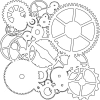 "Crafter's Workshop Template 6""X6""-Gears"