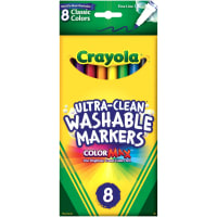 Crayola Ultra-Clean Color Max Fine Line Washable Markers-Classic Colors 8/Pkg