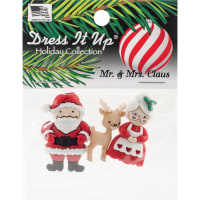 Dress It Up Holiday Embellishments-Mr. & Mrs. Claus