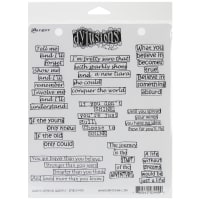 "Dyan Reaveley's Dylusions Cling Stamp Collections 8.5""X7""-Quintessential Quotes"