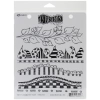 """Dyan Reaveley's Dylusions Cling Stamp Collections 8.5""""X7""""-Further Around The Edge"""