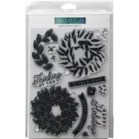 "Concord & 9th Clear Stamps 6""X8""-Magnolia Wreath"
