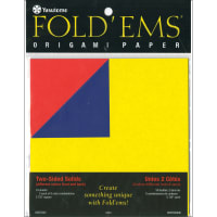 """Fold 'Ems Origami 2-Sided Paper 5.875"""" 18/Pkg-Solids, 9 Colors/2 Each."""