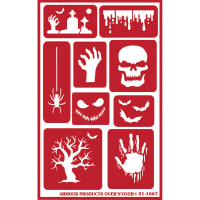"Over 'N' Over Reusable Stencils 5""X8""-Halloween"