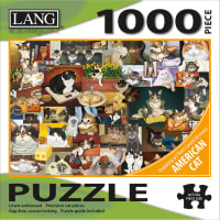 """Jigsaw Puzzle 1000 Pieces 29""""X20""""-American Cat"""