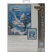 """Dimensions Counted Cross Stitch Kit 10""""X14""""-The Dolphins' Domain (14 Count)"""