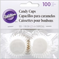 """Candy Cups-White 100/Pkg 1"""""""