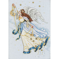 """Dimensions Gold Petite Counted Cross Stitch Kit 5""""X7"""" -Twilight Angel (16 Count)"""