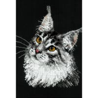 """RIOLIS Counted Cross Stitch Kit 8.25""""X11.75""""-Main Coon (10 Count)"""