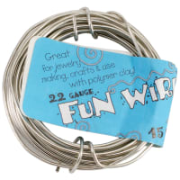 Plastic Coated Fun Wire 22 Gauge 15'-Icy Silver