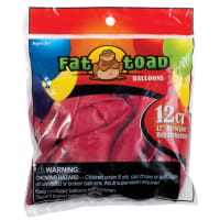 "Fat Toad Balloons Round 12"" 12/Pkg-Cherry Red"