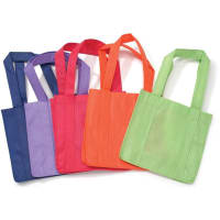 "Non-Woven Bags 12.5""X22"" 12/Pkg-Bright Colors Assorted, Pack of 12"