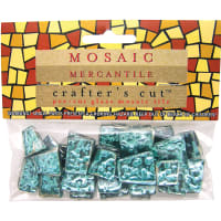 Crafter's Cut Mosaic Tiles 1/6lb-Aqua Sparkle