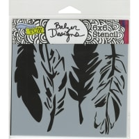 """Crafter's Workshop Template 6""""X6""""-4 Feathers"""