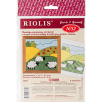 """RIOLIS Stamped Cross Stitch Kit 2.25""""X2.25""""-Summer Meadow (13 Count)"""