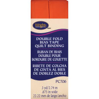 """Wrights Double Fold Quilt Binding .875""""X3yd-Orange"""