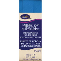 """Wrights Double Fold Quilt Binding .875""""X3yd-Turquoise"""