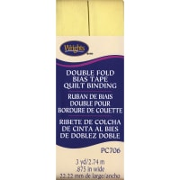 "Wrights Double Fold Quilt Binding .875""X3yd-Baby Maize"