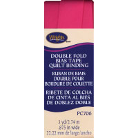 """Wrights Double Fold Quilt Binding .875""""X3yd-Berry Sorbet"""