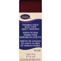 """Wrights Double Fold Quilt Binding .875""""X3yd-Ox Blood"""