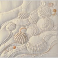 "Janlynn Candlewicking Embroidery Kit 14""X14""-Ocean's Edge-Stitched In Thread"