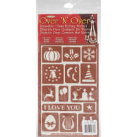 "Over 'N' Over Reusable Stencils 5""X8""-Holiday Assorted"