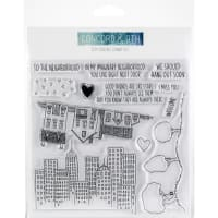 "Concord & 9th Clear Stamps 6""X6""-City Stacks"