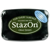 StazOn Solvent Ink Pad-Olive Green