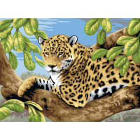 """Junior Large Paint By Number Kit 15.25""""X11.25""""-Leopard In Tree"""
