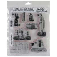 "Tim Holtz Cling Stamps 7""X8.5""-Laboratory"