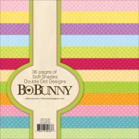 "BoBunny Double Dot Paper Pad 6""X6"" 36/Pkg-Soft Shades, 12 Colors/3 Each"