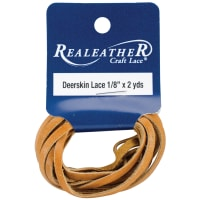 "Realeather Crafts Deerskin Lace .125""X2yd Packaged-Saddle Tan"