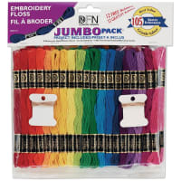 Janlynn Cotton Embroidery Floss Jumbo Pack 8.7yd 105/Pkg-Assorted Colors