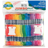 Janlynn Craft Thread Jumbo Pack 9.9yd 105/Pkg-Assorted Colors