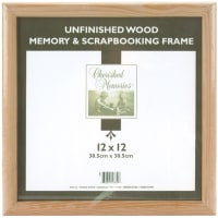 "Darice Wooden Memory Frame-12""X12"" Unfinished"